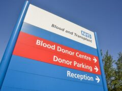 """It is hoped blood donation will be made more inclusive through the removal of a question on the donor form branded """"outdated"""" and """"discriminatory"""" (Handout/NHS Blood and Transplant/PA)"""