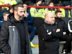 Steven Ferguson, right, has defended Ross County's fans (Ian Rutherford/PA)
