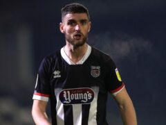 Luke Waterfall got two goals for Grimsby against Dover (Mike Egerton/PA)