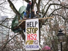 Anti-HS2 protests have cost the high-speed rail project up to £80 million (Aaron Chown/PA)