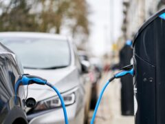 The net zero strategy includes more funding for on-street car charging (John Walton/PA)