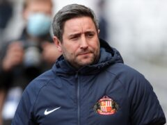 Lee Johnson apologised to Sunderland fans following their heavy defeat (Richard Sellers/PA)