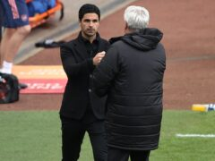 Arsenal manager Mikel Arteta has spoken out against the abuse received by former Newcastle boss Steve Bruce. (Molly Darlington/PA)
