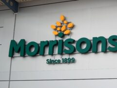 File photo dated 19/06/20 of a sign for the Morrisons. Morrisons said it plans to hire 3,000 extra workers ahead of Christmas (Mike Egerton/PA)