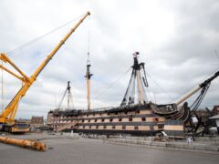The 1894 farthing was found under the mast of Nelson's flagship, HMS Victory (Andrew Matthews/PA)