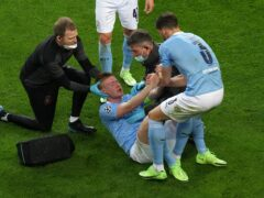 Kevin De Bruyne was forced off injured in the Champions League final last season (Adam Davy/PA)
