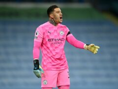 Manchester City are without goalkeeper Ederson for the visit of Burnley (Michael Regan/PA)
