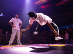 Bboy, AJ the Cypher Cat from Wolverhampton performs in the Red Bull BC One final at Electric Brixton, London (David Parry/PA)