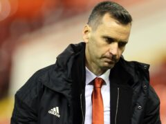 Aberdeen manager Stephen Glass has seen his side fail to win any of their last 10 games (Steve Welsh/PA)