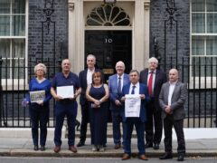 Relatives of victims of the Northern Ireland Troubles previously handed a letter into Number 10 protesting against the Government's planned statute of limitations on future prosecutions (PA)