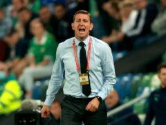 Ian Baraclough saw his Northern Ireland side beaten by Bulgaria (Liam McBurney/PA).