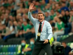 Northern Ireland head coach Ian Baraclough was 'appalled' by Jamal Lewis' dismissal (Liam McBurney/PA)