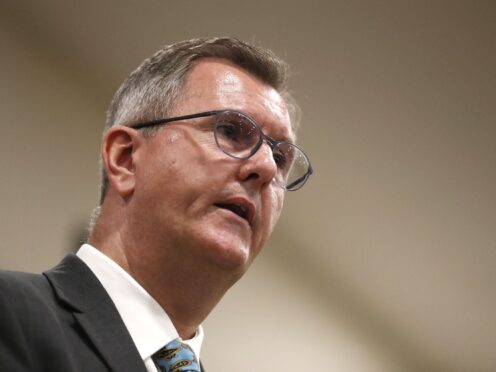 Sir Jeffrey Donaldson said the negotiations must not be a missed opportunity (Peter Morrison/PA)