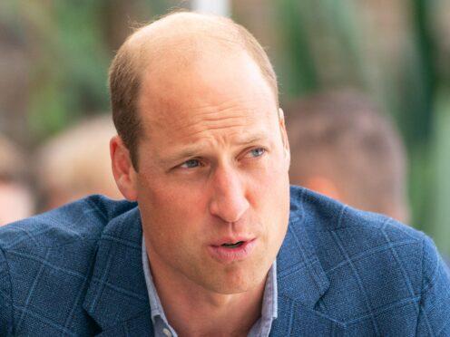 The Duke of Cambridge (Dominic Lipinski/PA)