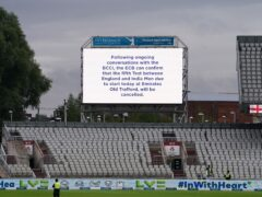The fifth Test was postponed last month (Martin Rickett/PA)
