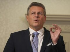 European Commission vice president Maros Sefcovic during a press conference at the Crowne Plaza hotel, Belfast (PA)