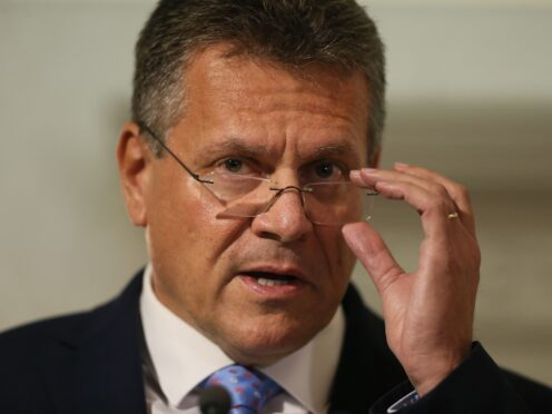 European Commission Vice President Maros Sefcovic said a visit to Northern Ireland left a lasting impression on him (Brian Lawless/PA)