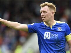 Liam Craig could become St Johnstone's record appearance holder against Dundee on Saturday. (Ian Rutherford/PA)