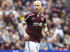 Liam Boyce opened the scoring for Hearts from the penalty spot (Jeff Holmes/PA).