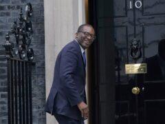 Kwasi Kwarteng in Downing Street, London (Victoria Jones/PA)