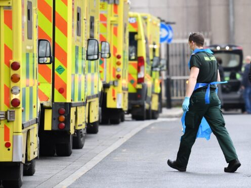 Ambulances at the Royal London Hospital in Whitechapel (Stefan Rousseau/PA)