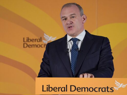 Liberal Democrat leader Sir Ed Davey has called for an increase in the Warm Home Discount (Ian West/PA)
