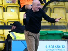 Livingston manager David Martindale praised his players for their win at St Johnstone (Andrew Milligan/PA)