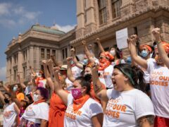 Women protest against the six-week abortion ban at the Capitol in Austin, Texas (Jay Janner/AP)