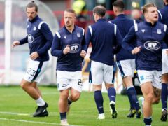 Dundee's Leigh Griffiths (second left) could return (PA)