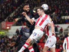 Stoke's Nick Powell (right) was on target 11 minutes from time (Tim Goode/PA)