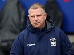 Coventry manager Mark Robins (Nigel French/PA)