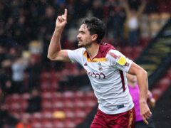 Alex Gilliead was on target for Bradford (Isaac Parkin/PA)