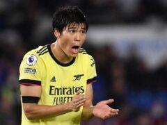 Defender Takehiro Tomiyasu is yet to taste defeat since joining Arsenal (Ashley Western/PA)