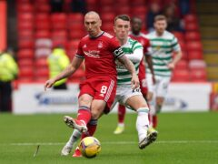 Aberdeen's Scott Brown, left, looking for fortunes to change (Andrew Milligan/PA)
