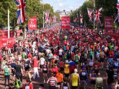 Runners after finishing the Virgin Money London Marathon (PA)
