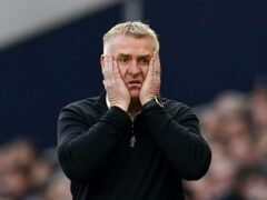Aston Villa manager Dean Smith saw his side suffer a stunning home defeat to Wolves (Nick Potts/PA)