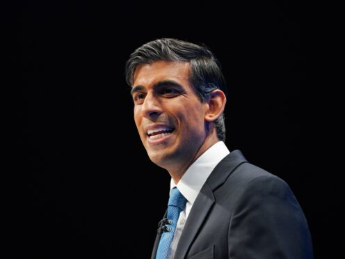 Chancellor of the Exchequer Rishi Sunak (Peter Byrne/PA)