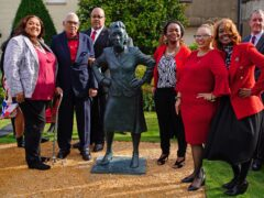 The family of Henrietta Lacks celebrate the unveiling of her statue at the University of Bristol (Ben Birchall/PA)