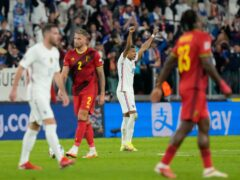"""Didier Deschamps hailed France's """"strength of character"""" after his side fought back from two goals down to beat Belgium 3-2 in the Nations League semi-finals (Luca Bruno/AP)"""