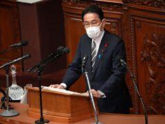 Japanese prime minister Fumio Kishida (AP)