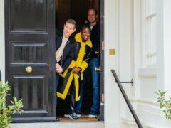 Dermot O'Leary, Clara Amfo and the Duke of Cambridge (Kensington Palace/PA)