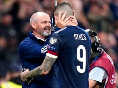 Lyndon Dykes scored a crucial winner for Scotland against the Faroes (Jane Barlow/PA)