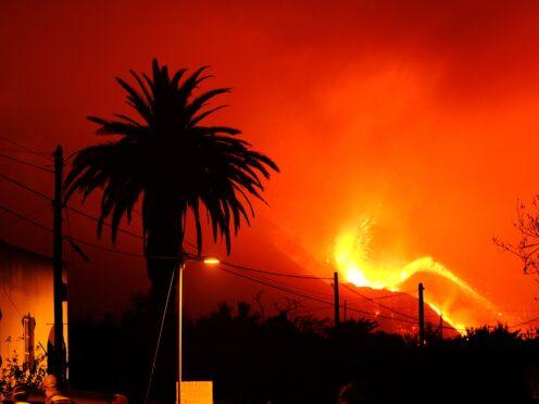 A volcano continues to erupt on La Palma (Daniel Roca/AP)