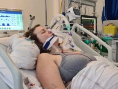 Claire Bromley, 33, from Kent, in hospital after she contracted coronavirus while pregnant (NHS England/PA)