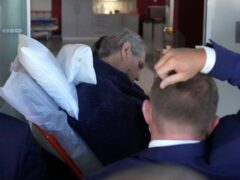 Czech Republic's President Milos Zeman is admitted to the Military hospital in Prague, Czech Republic, Sunday (Petr David Josek/AP)