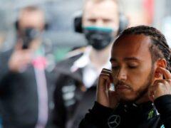 Mercedes driver Lewis Hamilton was furious with his team in Turkey (Umit Bektas/AP)