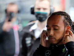 Lewis Hamilton had a frustrating end to his race (Umit Bektas/AP)