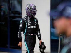 Lewis Hamilton was furious with his team's strategy (Umit Bektas/AP)