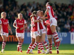 Frida Maanum celebrates her first Women's Super League goal in Arsenal's 3-0 win against Everton (Adam Davy/PA)