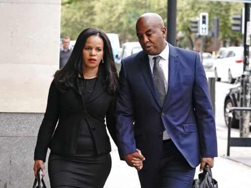 Claudia Webbe arrives at Westminster Magistrates Court (Jonathan Brady/PA)